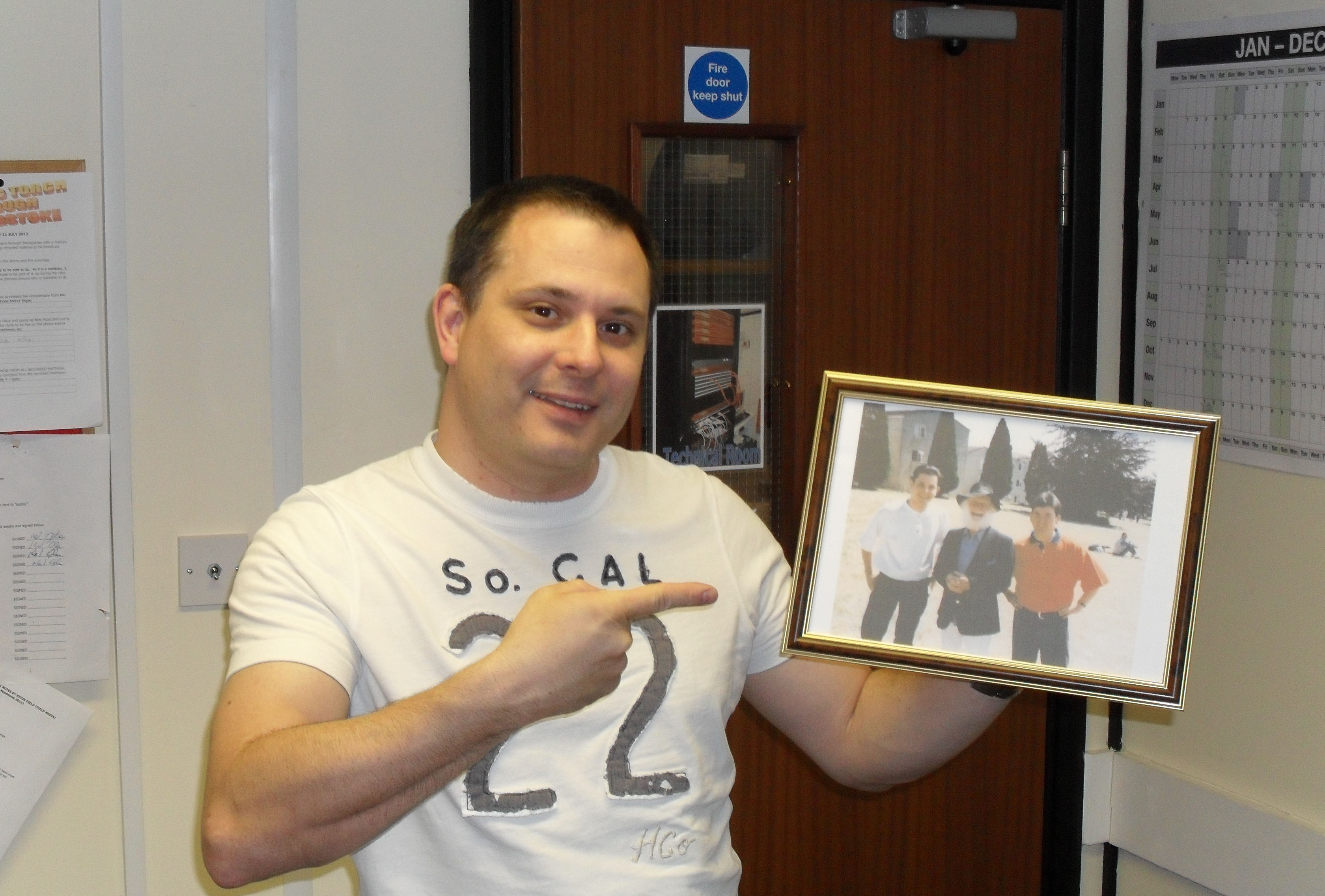 Mark Watson and photo