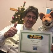 Mike Read Presented with Prize by Basil Brush on Christmas Show